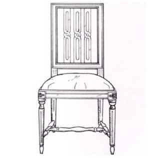 Lodräta räfflor på gustavianska möbler