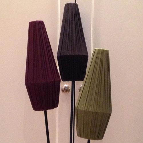 Lampskärm-50-tal-Plommon,-Svart-och-Grön