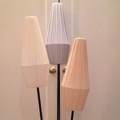 Lampskärm-50-tal-Vit,-Grå-och-Beige