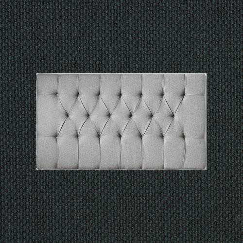 Sänggavel-Djuphäftad-Borstad-Bomull